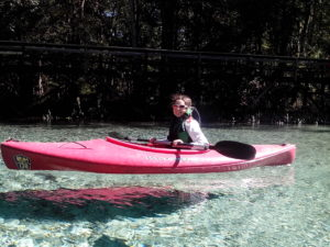 B in a kayak