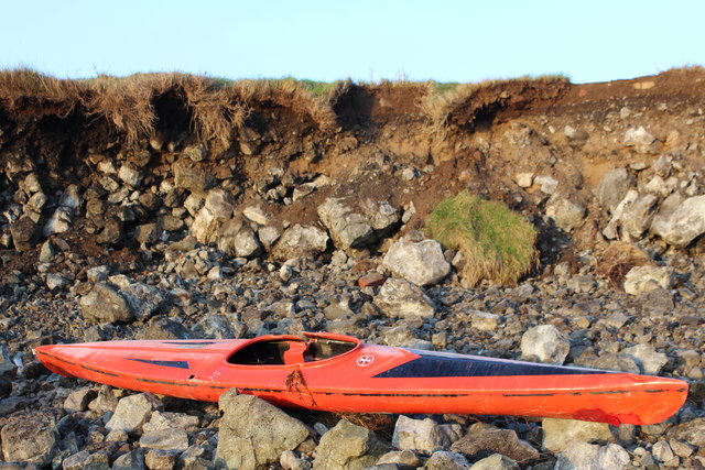 Storm damaged kayak